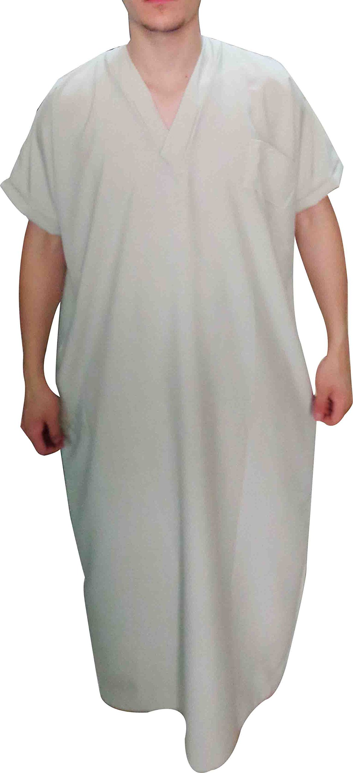 Men Thobe Thoub Abaya Robe Juba Qamis Daffah Dishdasha Islamic Arab Kaftan 398 (Beige 2XL 62)