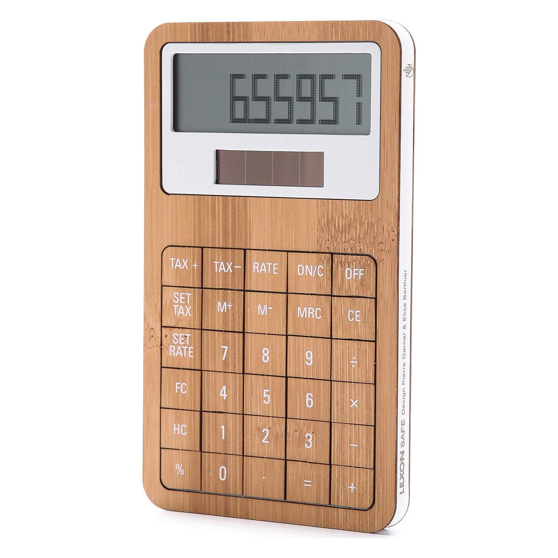 Calculadora – bambú/blanco