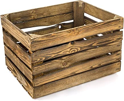 gefla Naturaleza pera Caja | Originale Vintage Fruta (flambiert | geflammte Caja de Madera para DIY Muebles: Amazon.es: Hogar