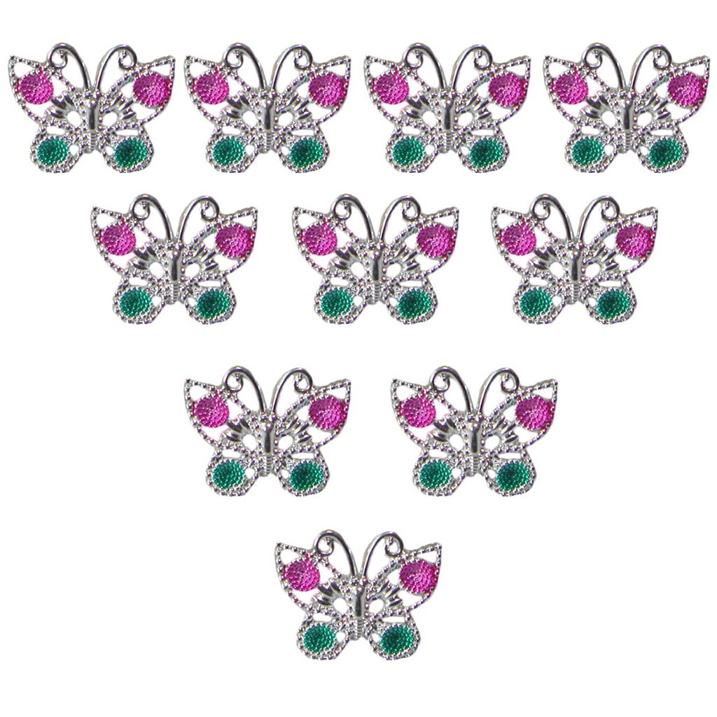 10pcs Butterfly Rings for Girl Kids Stylish Jewellery Party Favor Silver