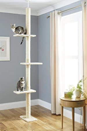 Árbol Rascador para Gatos, Rascador de suelo a techo para gatos ...