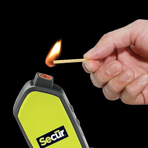 Secur Linterna de 2 LED/Iniciador de fuego/Brújula/Silbato a ...