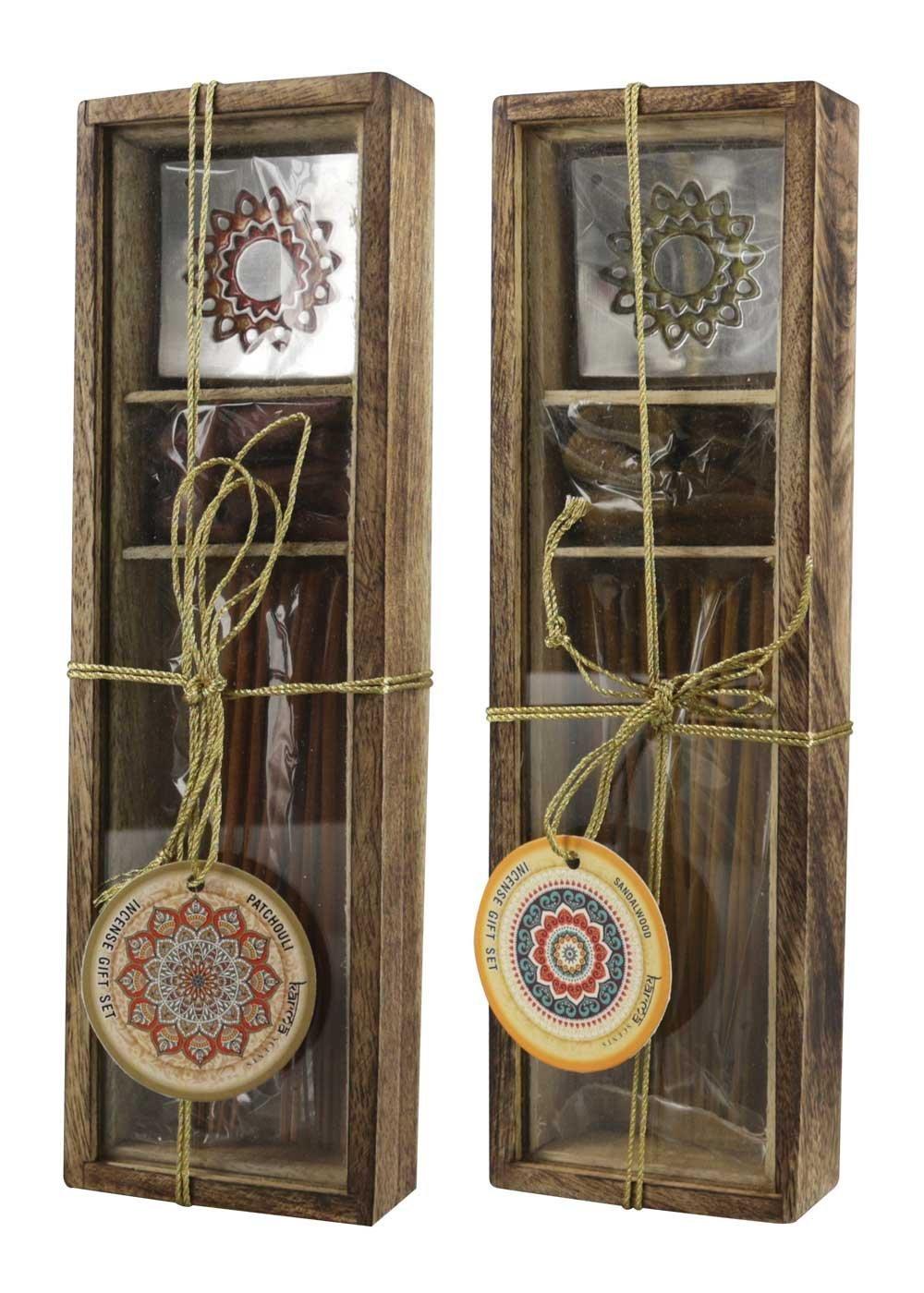 2pc Box - Incense Gift Sets - Sandalwood & Patchouli