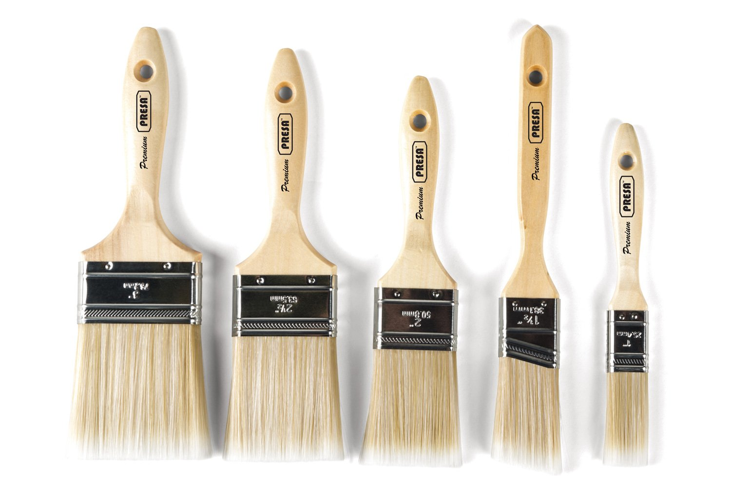 Presa Premium Paint Brushes Set, 5 Piece