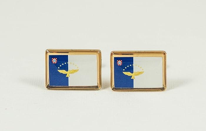 c28bad5c61cb Amazon.com: The Azores Flag Cufflinks: Handmade
