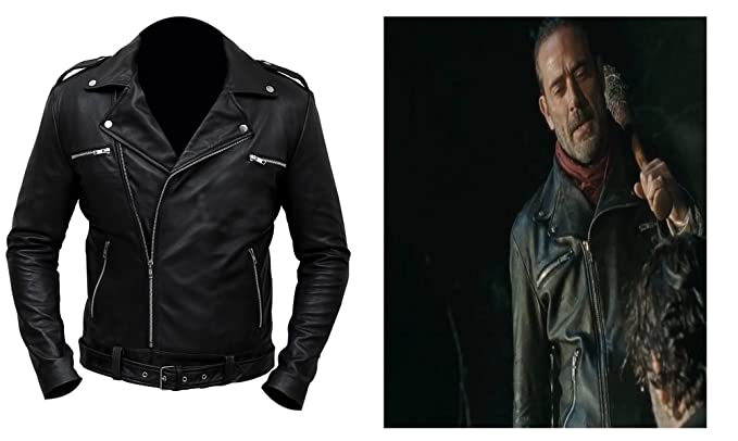36ae89ce5 Decent Fashion Walking Dead Negan Jeffrey Dean Morgan Leather Jacket