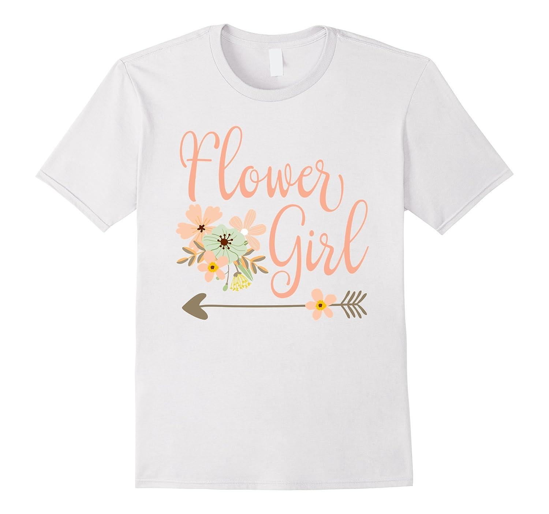 Wedding Flower Girl T-Shirt - Bridesmaid Shirts-PL