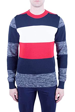 Tommy Hilfiger Uomo Pullover Uomo a Righe Colorblock
