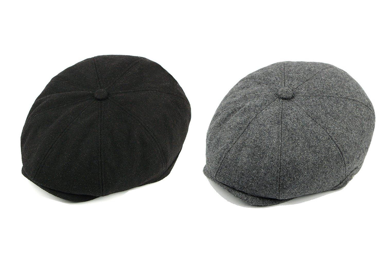 539a2edc3a1 Decstore Pack of 2 Men s Cotton Flat Cap Ivy Cabbie Driving Hat Winter Newsboy  Beret Cap