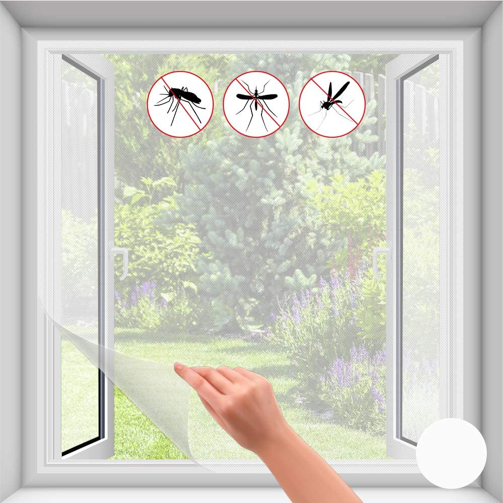 durchsichtig DRULINE Fliegengitter Fenster Klettband,UV-bes Fliegen Netz ohne Bohren 0329 Fliegengitter f/ür Dachfenster mit Rei/ßverschluss Insektenschutz mit Klettband selbstklebend anthrazit Insektenschutzgitter f/ür Fenster inkl