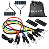 Kivorich Fit Resistance Bands, Exercise Bands for Resistance Training, Physical Therapy, Home Workouts, Workout Bands Set with Door Anchor, Ankle Straps