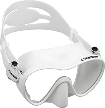 Cressi F1 - Gafas de buceo sin marco, color blanco