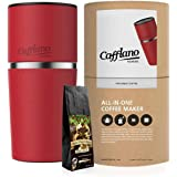 Cafflano Klassic- Portable All-in-One Pour Over Coffee Maker with Whole Bean Coffee Sample (RED)