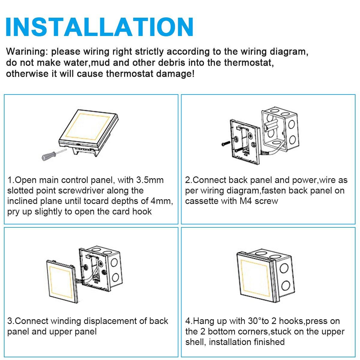 Wunderbar 3 Draht Thermostat Schematisch Fotos - Schaltplan Serie ...