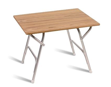 FORMA MARINE Teak Veneer Deck Table 24u0027 X 34u00277 X 24u0027,