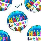 "18"" Happy birthday Balloons Party Supplies Foil Mylar Helium Balloon,20pcs"