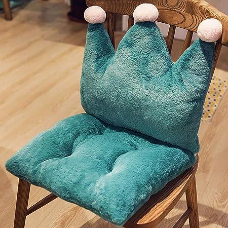 QHQH Felpa Cojín para Silla de jardín, Color sólido Espesar Muebles de jardín Cojines para sillones Almohadillas de Asiento Acolchadas para sillas de Comedor, Desmontable con Cremallera: Amazon.es: Hogar
