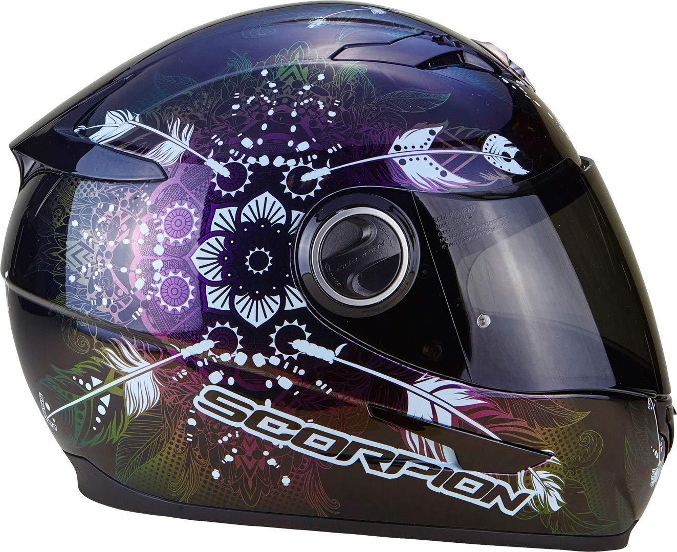 Noir//Rose SCORPION Casque moto EXO 490 Dream Noir Cameleon M