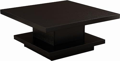 ioHOMES Celio Square Coffee Table, Black
