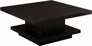 Amazon Com Iohomes Celio Square Coffee Table Black Kitchen Dining