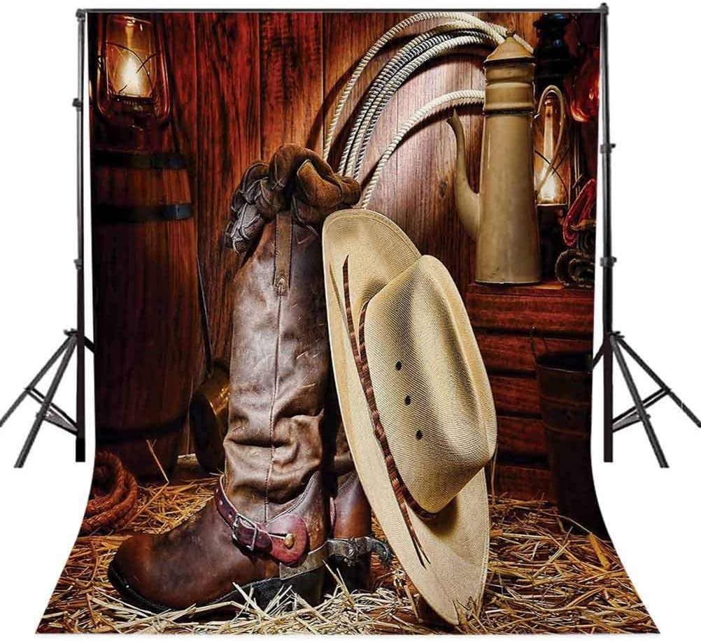 Western 10x15 FT Backdrop Photographers,Authentic American West Rodeo Elements with Antique Supplies Retro Artwork Photo Background for Child Baby Shower Photo Vinyl Studio Prop Photobooth Photoshoot
