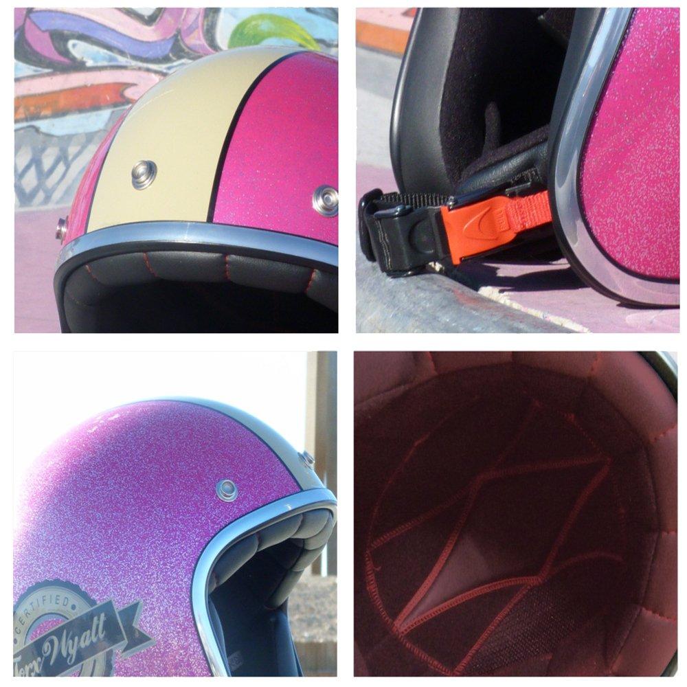 Taille S Rouge TORX Casque Moto WYATT FAMOUS SHINY GLITTER