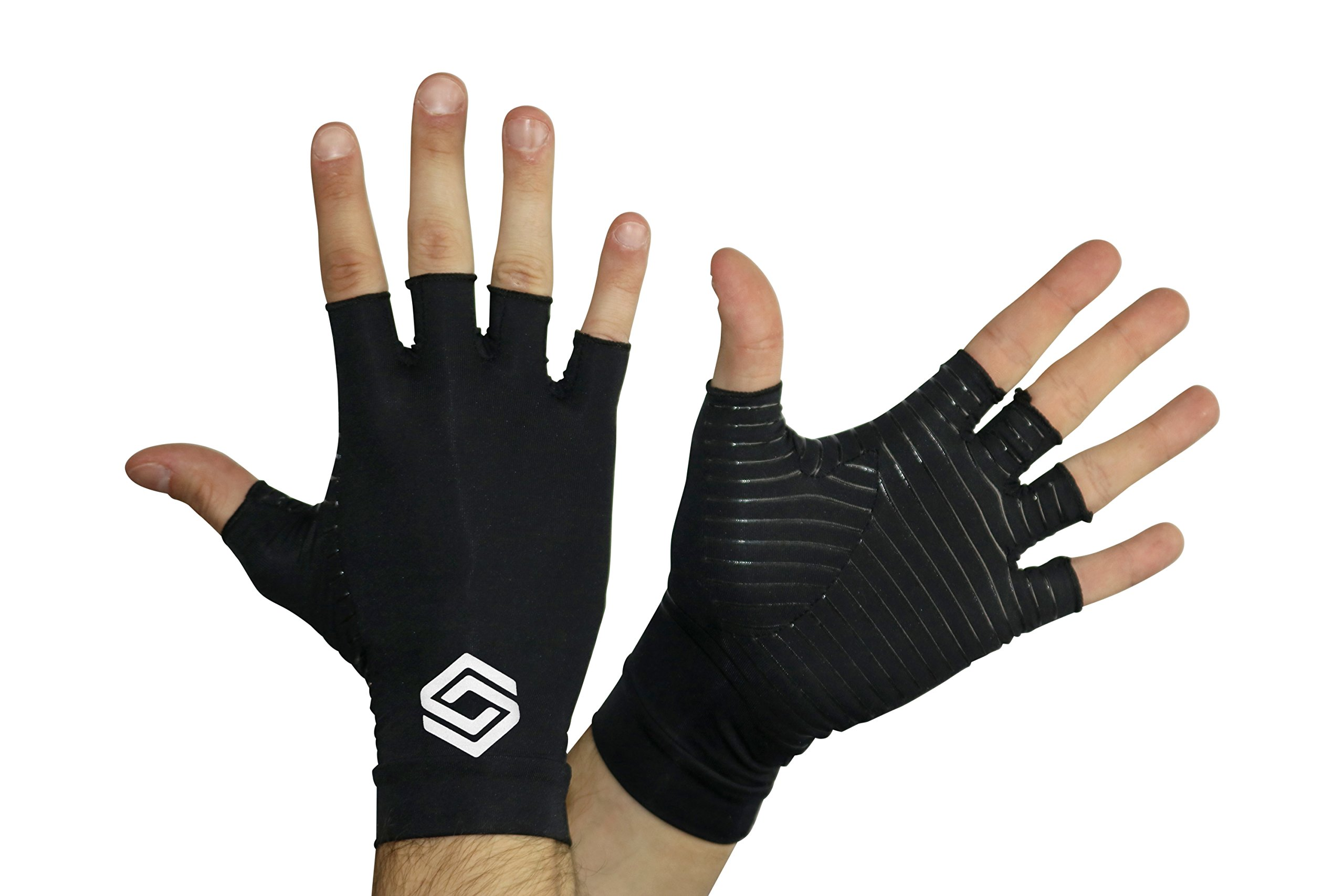Arthritis Gloves #1 by Copper Infused Compression - GUARANTEED To Speed Up Recovery & Relieve Symptoms of Arthritis, RSI, Carpal Tunnel, Tendonitis & More - Men & Women - 1 Pair (small)