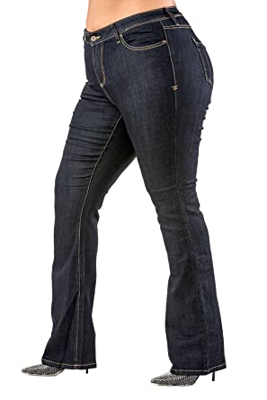 8a6f6bb0 Poetic Justice Plus Size Womens Curvy Fit Stretch Denim Basic Slim Bootcut Jeans  Size 14 x