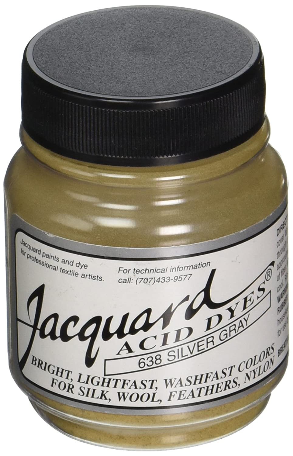 Jacquard Acid Dyes .5oz-Silver Gray Jacquard Products FBA_JAC1638