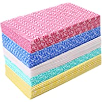 JEBBLAS Disposable Dish Cloth Dish Towels and Reusable Cleaning Towels, Handy Cleaning Wipes,Handi Wipe 5 Colors, 60…