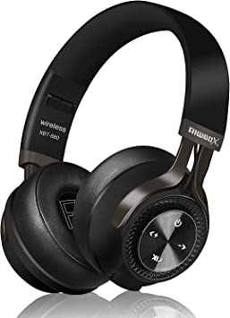 Riwbox XBT-880 - Auriculares inalámbricos bluetooth, con micrófono, control de volumen y cable, para PC, teléfonos móviles, TV, iPad Negro y gris.: Amazon.es: Electrónica