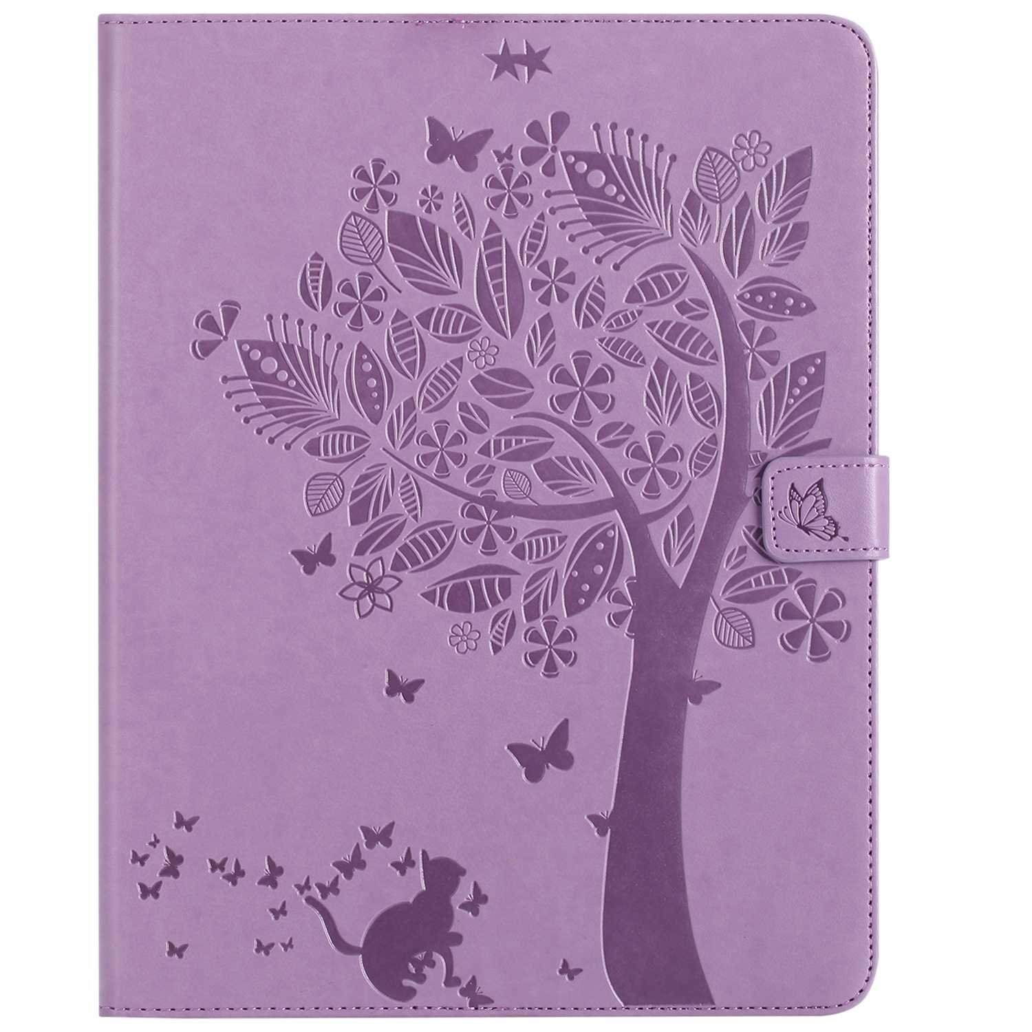 Bear Village iPad 2nd / 3rd / 4th Generation 9.7 Inch Case, Leather Magnetic Case, Fullbody Protective Cover with Stand Function for Apple iPad 2nd / 3rd / 4th Generation 9.7 Inch, Purple