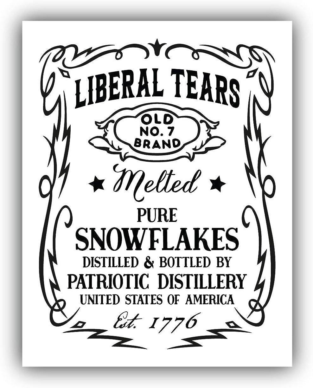NO SNOWFLAKES Decal president donald trump train sticker car window 2020 5-SIZE