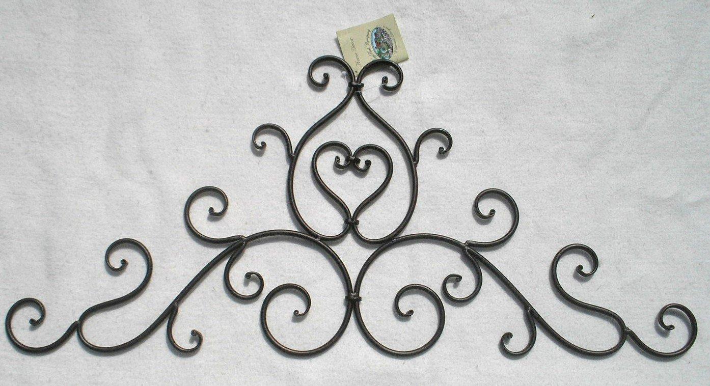 Decorative wrought iron metal wall plaque ebay - Plaque murale decorative metal ...
