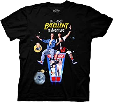 Official Bill And Ted/'s Excellent Adventures Cartoon Ecru T-Shirt