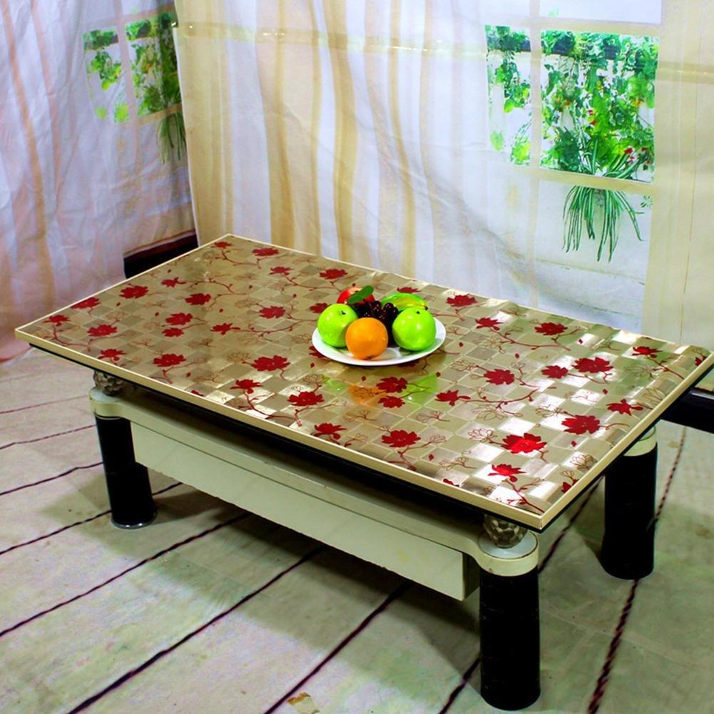 Estilo europeo impresos impresos impresos manteles de PVC impermeable a prueba de aceite casa rectangular de plástico de mesa de té , Oro 2 , 120120cm 38d97b