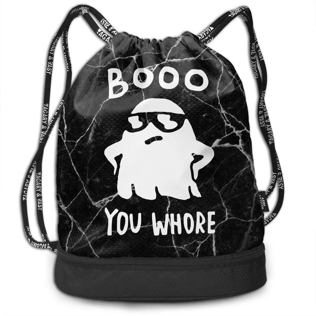 SG0HGO Drawstring Pack Boo Ghost Men /& Women Yoga Dance Travel Shoulder Bags