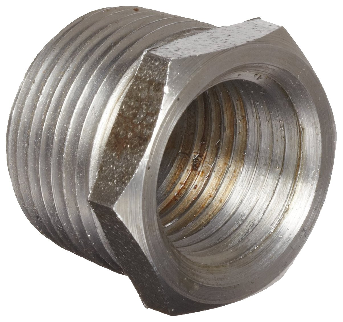 Anvil 8700129508 1-1//4 NPT Male x 1 NPT Female Malleable Iron Pipe Fitting Hex Bushing Black Finish