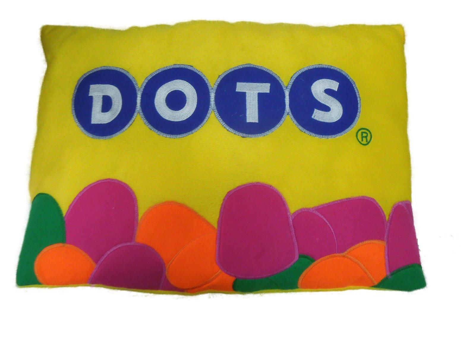 Tootsie Roll Soft Plush Pillow, 30'' (Dots)