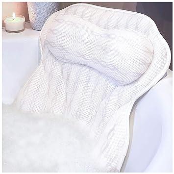 Amazon.com: Almohada de baño de lujo – Soporte ergonómico ...