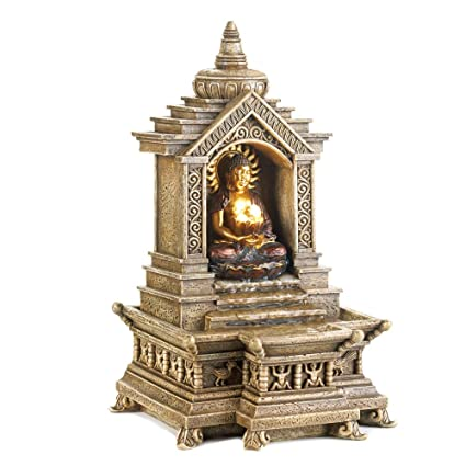 Amazon Com God Buddha Statue Water Fountain Desktop Decorative