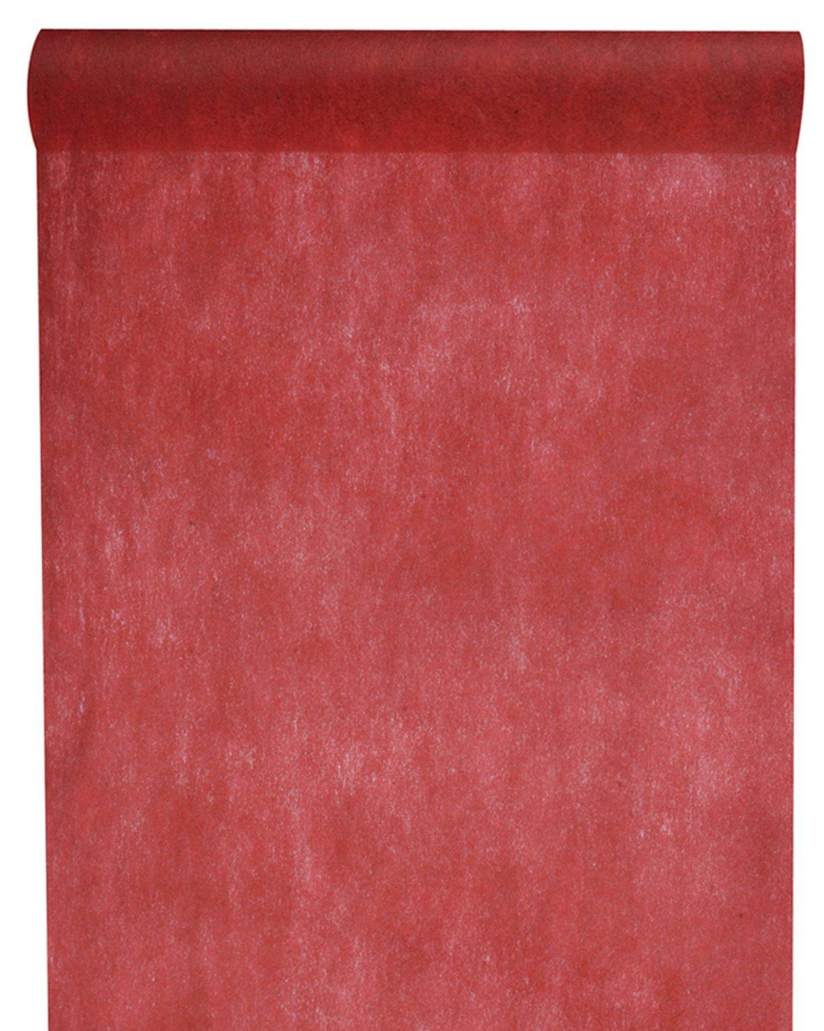 Chemin de Table Tissu Non Tiss/é Uni Bordeaux 30 cm Largeur Rouleau de 10 m
