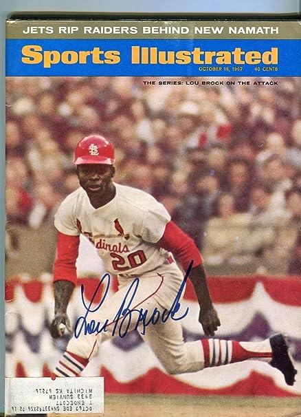 LOU BROCK Stl Cardinals Signed 1967 World Series Sports Illustrated