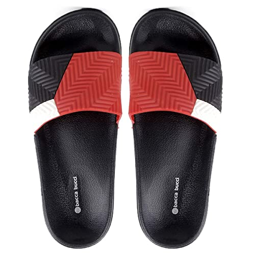 e7063925a Bacca Bucci Men s Benassi Solarsoft Slide Athletic Sandal Beach  Slippers Slidders Lounge Slide Room wear Flip Flops  Buy Online at Low  Prices in India ...