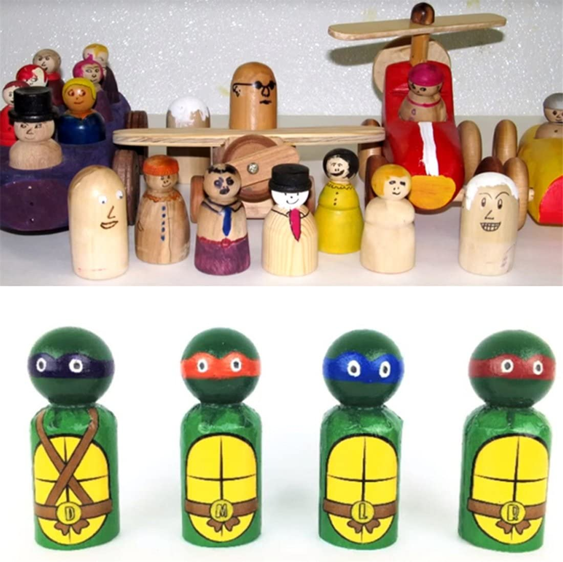 1.38 Solid Hard Nature Unfinished Alta Calidad Gangway Ready Paint o Stained Wooden Doll ni/ña Color madera 100pcs Coskiss 100pcs Madera Personas 35mm