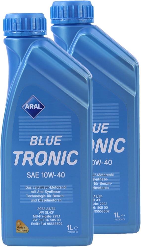 2x 1 L Liter Aral Bluetronic Blue Tronic 10w 40 Motor Öl Motoren Öl 31736465 Auto