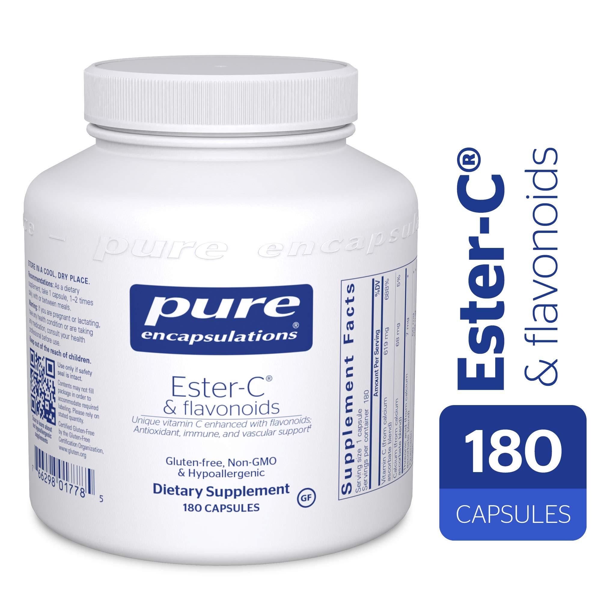 Pure Encapsulations - Ester-C & Flavonoids - Hypoallergenic Vitamin C Supplement Enhanced with Bioflavonoids - 180 Capsules by Pure Encapsulations (Image #1)