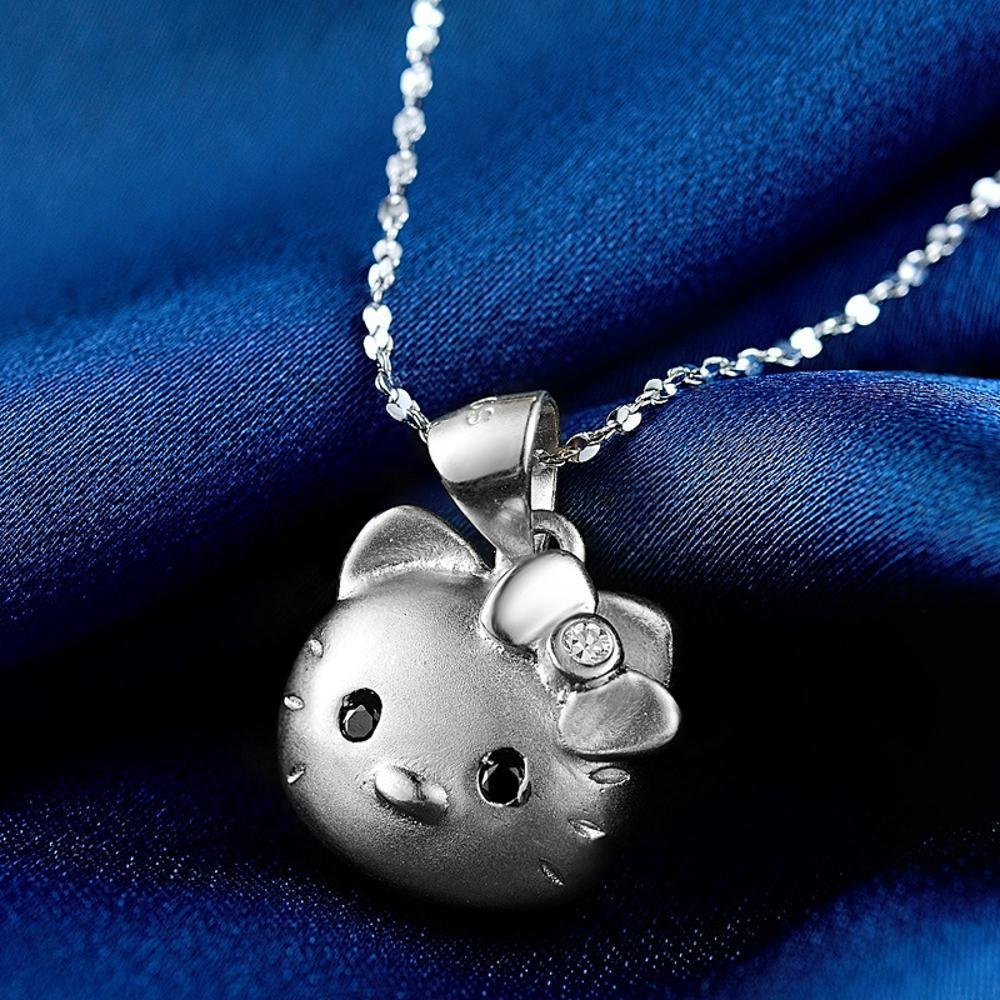 【期間限定特価】 Liudaye s925スターリングシルバーネックレスかわいい猫のペンダントショートボーンチェーンレディーギフト Liudaye B07FNB31M3, サエダオンラインショップ:277fbc3e --- a0267596.xsph.ru