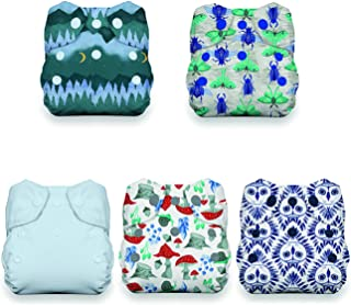 product image for Thirsties Nature's Canopy Cloth Diaper Collection Package, Snap Newborn All in One Cloth Diaper, Nature's Canopy