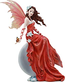 Vinyl Wall Decal Fantasy Mythology Retro Fairy Heart Wings Enchanted Flowers Décor Decals Stickers Vinyl Art Home Garden